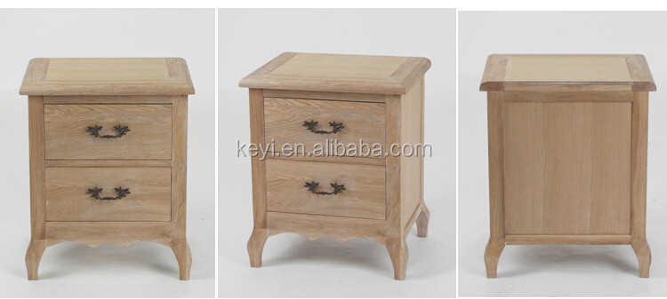 Antique Style solid wood bedroom beside table/2 drawer chest(DT-1082-OAK)