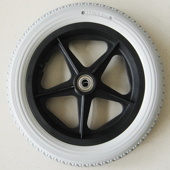 Supply Barrow Wheel PU Solid Flat Free Tire + Plastic Rim