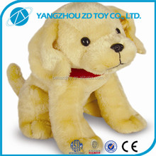 OEM promotional fluffy embroidery plush toy dog