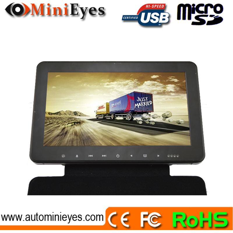 10 inch car tft lcd roof mounted monitor tv usb with car parking monitor cam