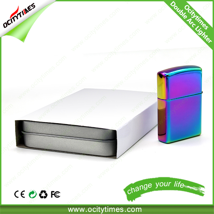 Portable Rechargeable USB Electronic Cigarette Lighter, Cigar Flameless Windproof Lighter No Gas/Fuel