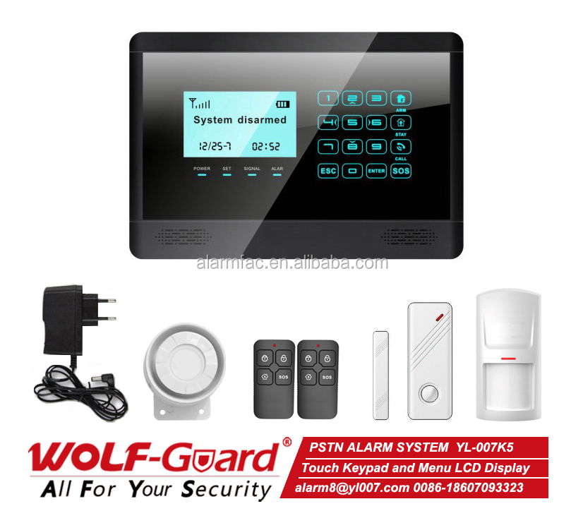 Mobile APP system professional Security Products Wireless alarm system/pstn burglar alarm system for home security
