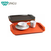 Custom rectangular shaped anti slip plastic restaurant coffe shop food serving tray