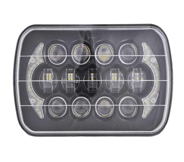 H4 h/l Square 5x7 7x6 inch led headlight with angel eyes 7inch sealed beam headlamp for car jeep xj tj