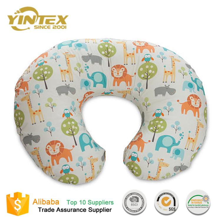 Best wedge 100% cotton custom wholesale head bed baby nursing breastfeeding u shape pillow