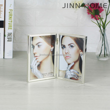 Jinnhome High Quality Alloy collage picture frame Metal two Folding photo frame album table photo frame for Decoration