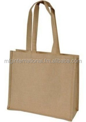 Natural Cotton Bags with self handle cheap small importer of jute shopping drawstring bag/jute pouch for rice wholesale