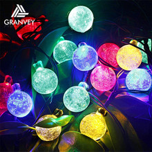 outdoor solar mini christmas tree decorations ball ornaments led projector light