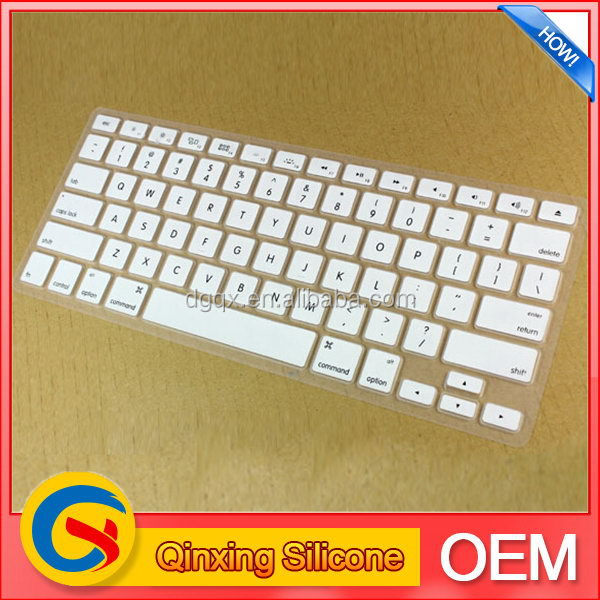 Colorful export custom silicone keyboard cover for ipad