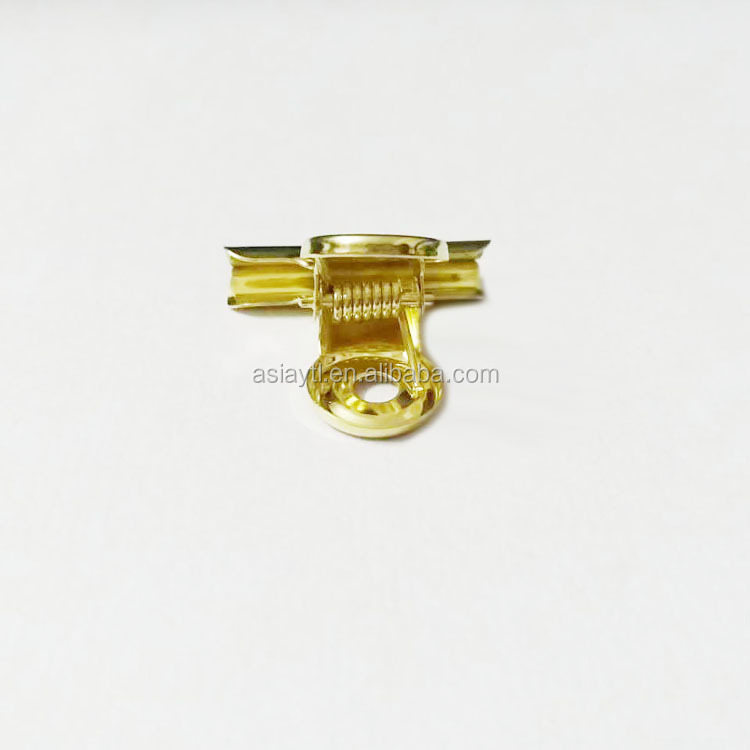 high quality golden surface treatment metal bulldog clip 30mm