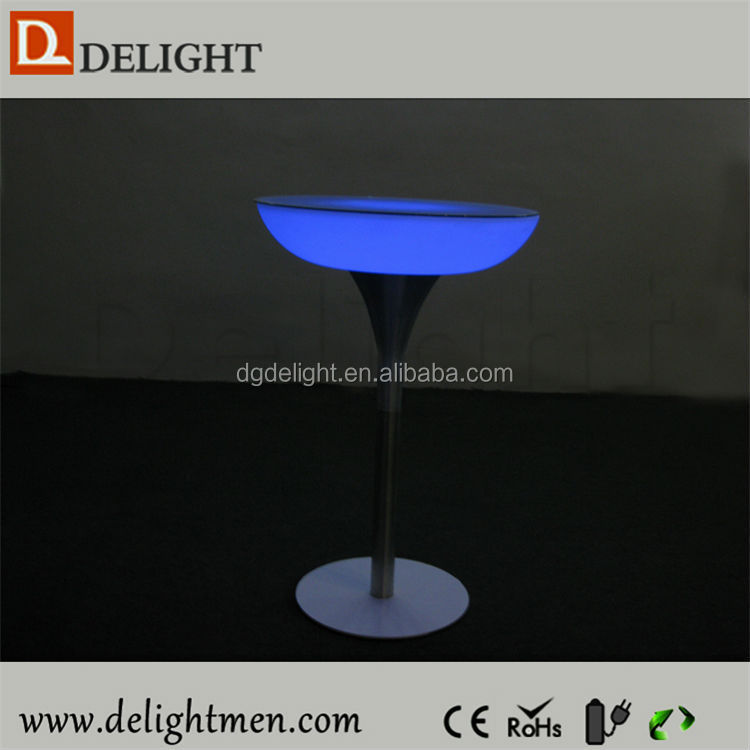 Outdoor color change led illuminated table/ led poker table/ led unique bar table furniture