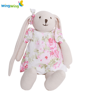 2016 soft baby girl bunny toys stuffed and plush toy rabbit with dress