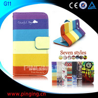 Factory Price Wholesale Printed Fancy Wallet Stand Leather Flip Case for HTC G11