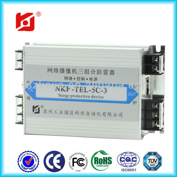 high performance Surge Protector SPD/Network signal lightning protection device NKP-TEL-5C-3
