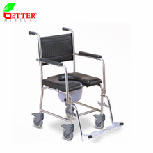CE FDA ISO Stainless Steel commode and Shower chair