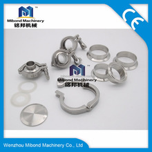 3A DIN 4 inch 6 inch Sanitary SS304/316L Stainless Steel Pipe Tube Clamp