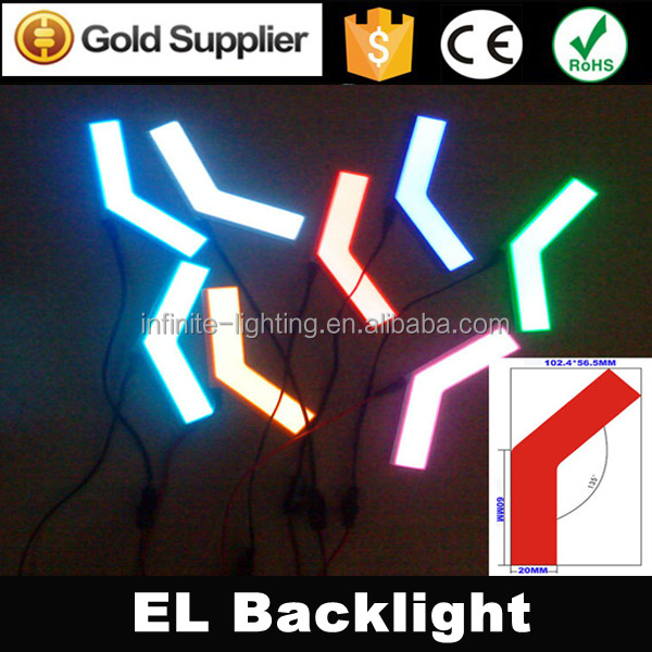 customized different shape and color el paper backlight/Super bright shinning el paper backlight