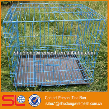 PVC Coated expanded metal dog cage(have stock)