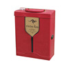 2017 Antique wooden Wine Gift Box Set Bounded Leather Wine Case