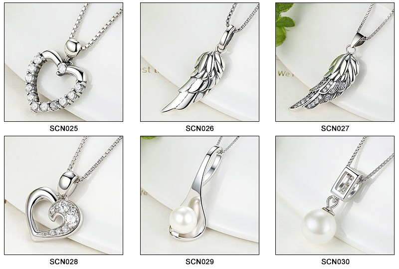 925 sterling silver base thick silver chain woman necklace
