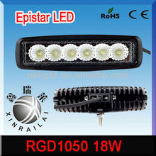 18w 1200lm 9-32v automobile led RGD1050 offroad tractor motorcycle,truck, tanktrain led light bar
