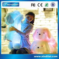 Hot Selling Colorful Led stuffed puppy