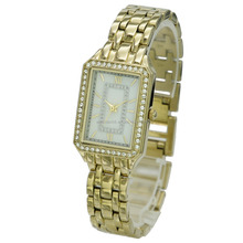 Low MOQ High Quality WN7060GP Ionic Gold Plating Stainless Steel Back Fashion Watch For Lady