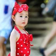 Wholesale Stock Children's Swimsuit Cute Girl's One Piece Swimsuit with Band Swimsuit Dancewear