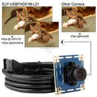 ELP webcam 1920x1080 Mjpeg 30fps 640x480 Mjpeg 100fps high speed usb camera module webcam