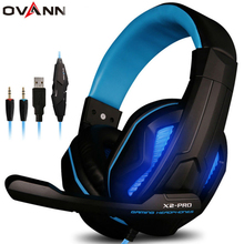 Ovann X2-PRO OEM Custom Led Light PS4 Noise Cancelling Usb Gaming Headsets Glowing PC Wired Headphone Factory Manufacturers