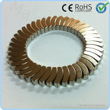 Small curved Neodymium arc segment magnets for small wind turbine generator