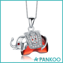 Manufacturer Direct Wholesale silver ruby elephant shape pendant