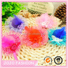 Best selling cute hair grips,feather hat hair clips hair accessory