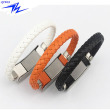 Christmas gift Custom Leather Bracelet Engraved USB Charger Cable in Mobile Phone Cable