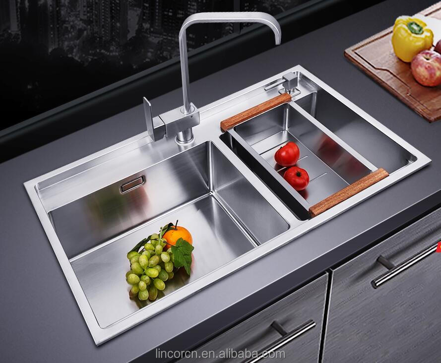Commercial industrial cheap price unique vegetable washing heavy duty ss white kitchen sink