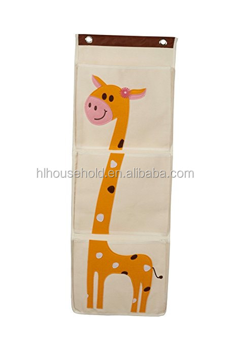 Wall Storage Pocket Organizer Hanging Folder for Toys Household Items and More