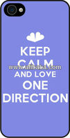 One Direction Keep Calm Products - Cases For iphone 4 5 - Samsung - HTC - Blackberry Mobile Phone