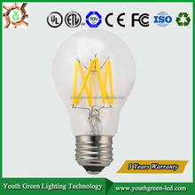 5years Quality Guarantee Energy star UL dimmable 3W 4W 5W 6W 8W LED Filament Edison LED Bulb Light E26