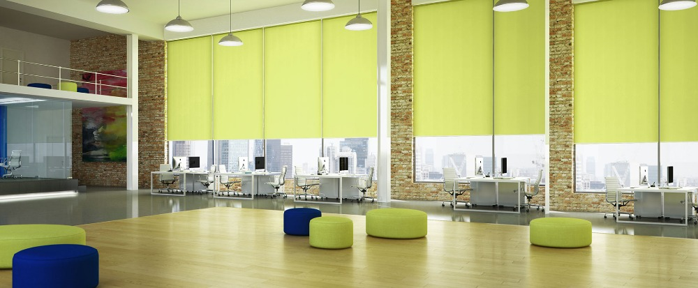 Custom Window Coverings solar roller shades /roller blinds for