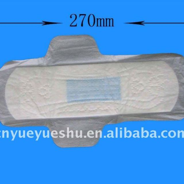 270mm length sanitary napkins for day or night use