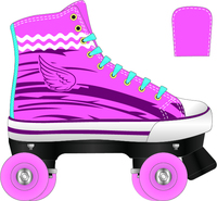 Traditional Canvas wholesale pvc wheel flashing kids electric quad skate