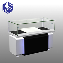 New Design glass display stand for mobile phone shop interior design