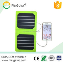 Flexsolar 5w mini flexible solar sun mobile charger cheap price solar mobile phone charger
