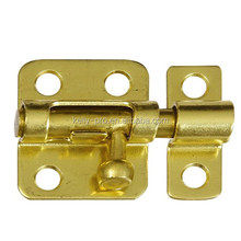 2 Inch Brass Slide Security Barrel Bolt Clasp, Straight Cranked Neck Door Lock Latch, Surface Gate Security Door Catch Lock Bolt