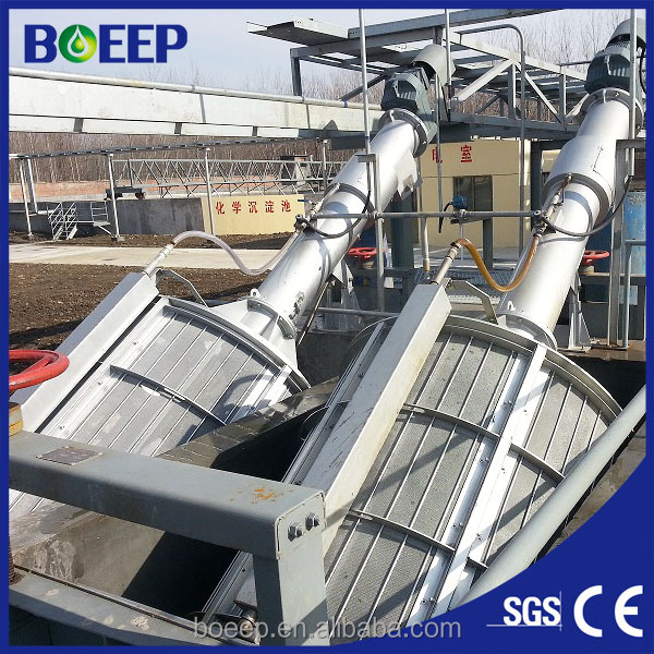 Paper industry sewage treatment rotary drum screen filter