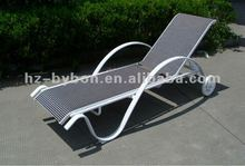 Multi-Position Adjustable Aluminum Sunbed Sun Lounger