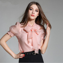 Monroo 2017 spring women ladies elegant casual long sleeve silk blouses