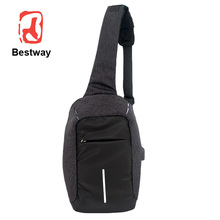 Custom multi layer nylon outdoor sports triangle cross body single strap backpack