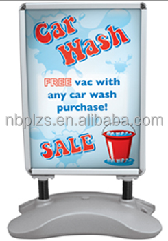 Hot aluminum frame standing,advertising poster display stands,22x28 water base pavement sign