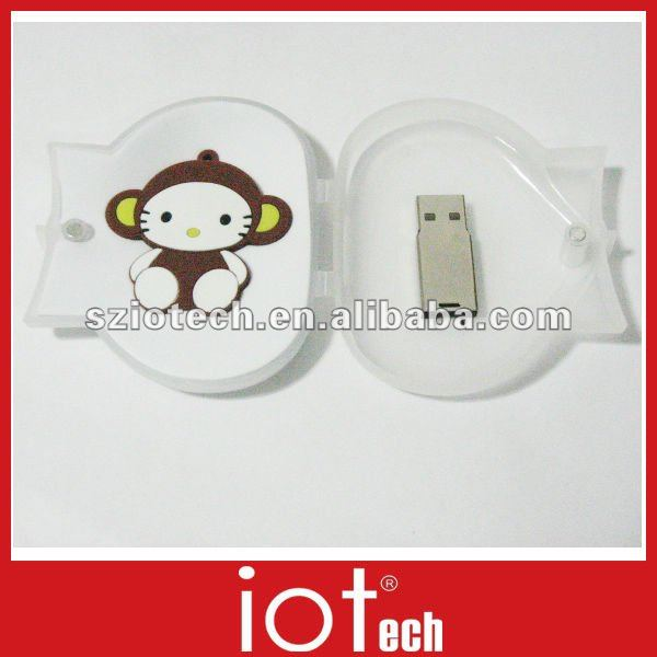 Monkey Shaped PVC Cartoon USB 4GB